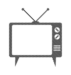 Tv sign on white vector