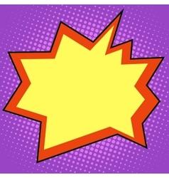 Explosion comic bubble retro background for text vector