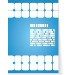White and blue background for brochure or cover vector