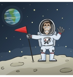 Astronaut on moon vector