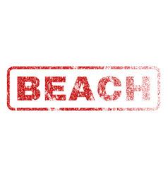 Beach rubber stamp vector