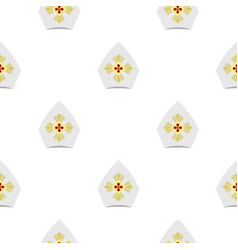 Catholic hat pattern flat vector