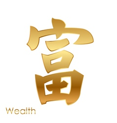 chinese character of good fortune Feng Shui vector image