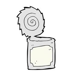 Comic cartoon open tin can vector
