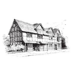 Cottage vintage vector