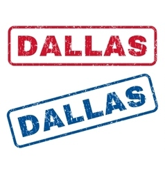 Dallas Rubber Stamps vector image vector image