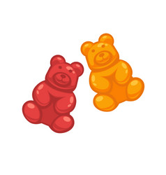 different colored jelly bears vector image vector image