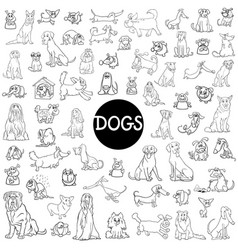 Dog characters large collection vector