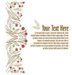 floral ornament template for invitation or vector image
