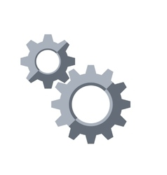 Gears Settings symbol vector image vector image