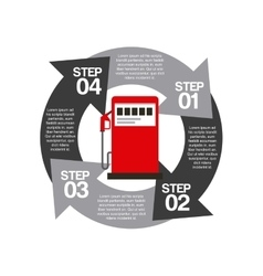 Infographic of oil industry design vector