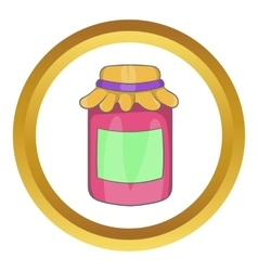 Jam in a glass jar icon vector