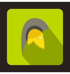 Knight helmet icon flat style vector image