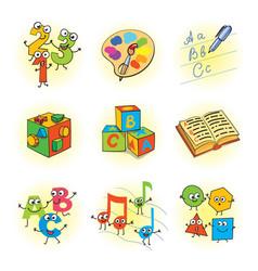 logic games for kids vector image