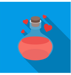 love potion icon in flate style isolated on white vector image