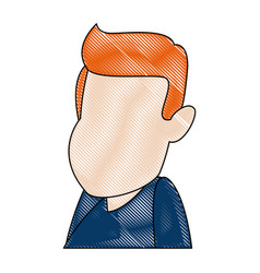 man cartoon face adult caricature character vector image vector image