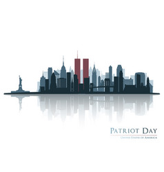 Patriot day new york view before september 11 vector