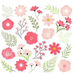 Pink Wedding Flowers vector image vector image