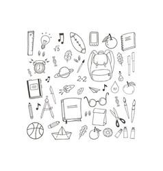 school theme vector image