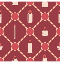 Seamless background with candle vector image