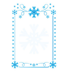 snowflakes frame background vector image