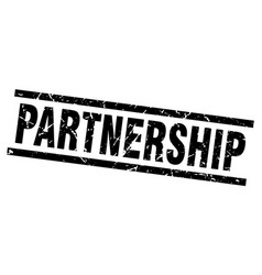 square grunge black partnership stamp vector image vector image