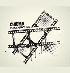 template grunge cinema poster grunge banner with vector image vector image