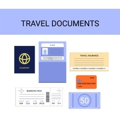 Travel documents infographics set - vector