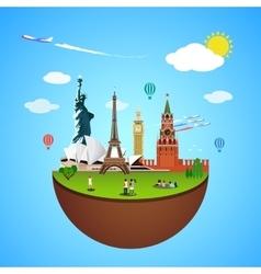 World landmarks concept for vector