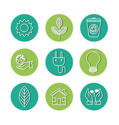eco friendly icons vector image