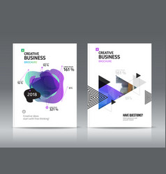Abstract business brochure vector
