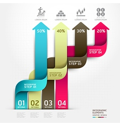 Abstract arrow business infographics vector image