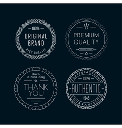 Vintage badges white vector