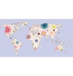Vintage world map vector image
