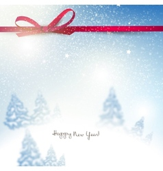 Beautiful christmas background with blurred vector
