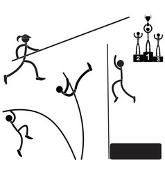 Pole vaults vector