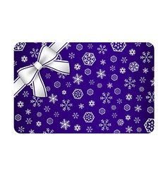 Dark blue christmas card with silver snow flakes vector