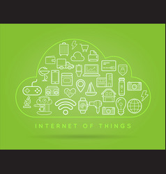 70 internet things b vector image vector image