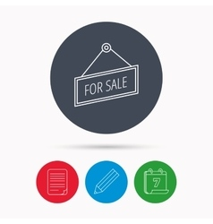 For sale icon advertising banner tag sign vector