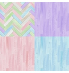 Pastel colored realistic wooden floor parquet vector