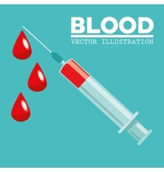 Blood donation design medical and healthcare vector