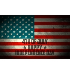 Grungy american flag background vector