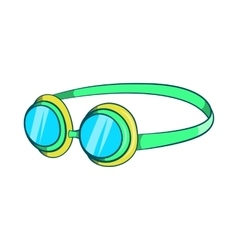 Goggles icon cartoon style vector