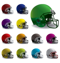 American football helmets vector