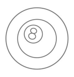 Billiard ball line icon vector image vector image