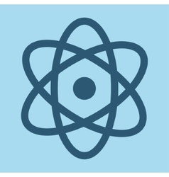 Blue atom aof science design vector image vector image
