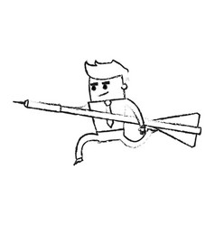blurred silhouette image executive man holding vector image vector image
