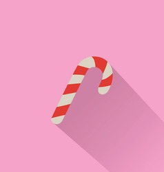 Candy Cane Isolated on Pink Background vector image vector image