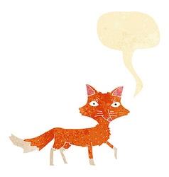 Cartoon little fox with speech bubble vector