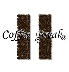 coffee break- drink vector image vector image